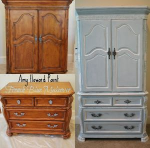 Amy Howard French Blue Makeover Before and After